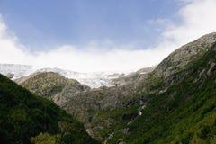 Glaciar en Noruega Foto de archivo