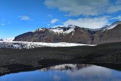 Glaciar en Skaftafell en Islandia Imagen de archivo libre de regalías