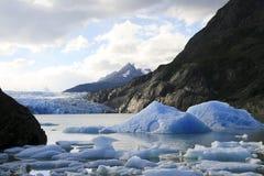 Glaciar en Torres del Paine Fotos de archivo