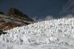 Glaciar famoso Pastoruri Imágenes de archivo libres de regalías