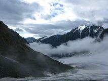 Glaciar grande de Aktru Imágenes de archivo libres de regalías