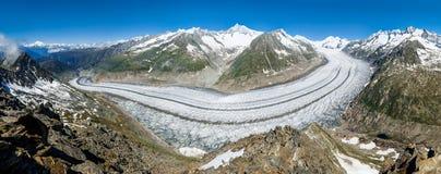 Glaciar grande - panorama Imagen de archivo