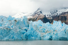 Glaciar gris en Torres del Paine Imagen de archivo libre de regalías