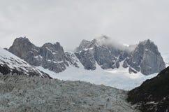 Glaciar i Chile Arkivfoto