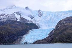 Glaciar Italia en Tierra del Fuego, Chile imagen de archivo