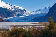 Glaciar Juneau Alaska de Mendenhall imagen de archivo libre de regalías