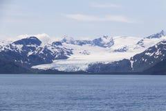 Glaciar largo en el fiordo de Kenai Foto de archivo