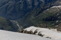 Glaciar Levanna Arkivbilder