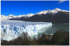 Glaciar Perito Moreno. In Santa Cruz, Argentina. At right ``Canal de los Tempanos`. Photography was taken at Parque Nacional Los Glaciares Stock Image