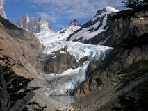Glaciar Piedras Blancas, Patagonia, la Argentina Imagen de archivo libre de regalías