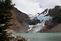 glaciar piedras för blancas Arkivfoton