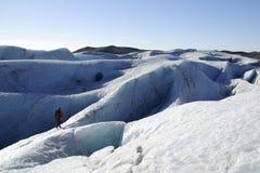 Glaciar que camina en Islandia fotos de archivo