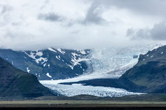 Glaciar tunga i bakgrund Royaltyfri Foto