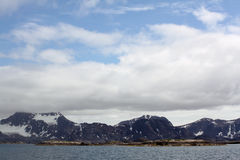 Glaciar y casquete glaciar imagen de archivo