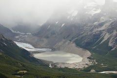 Glaciar y lago imagen de archivo