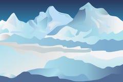 Glaciares Foto de archivo libre de regalías