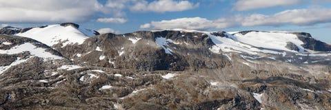 Glaciares de Hestebreen y de Flydalsbreen Foto de archivo libre de regalías