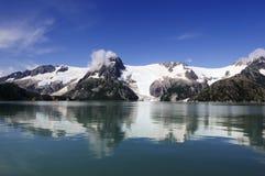 Glaciares en Alaska Foto de archivo libre de regalías