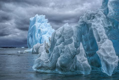 Glaciares en Laguna San Rafael Foto de archivo