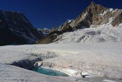 Glaciated country. Landscape around hispar glacier, karakoram himalaya, pakistan Stock Photos