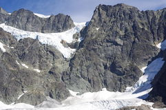 Glaciated massif Mount Shuksan stock image