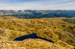 Glaciated mountain landscape in Langdale. Royalty Free Stock Image