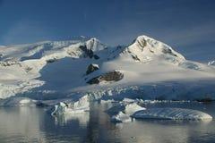 Glaciated mountain, reflected Stock Photo