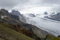 Glacie uno di Skaftafellsjokull del più impresive dell'Islanda Fotografia Stock Libera da Diritti