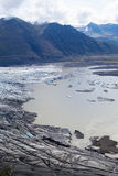 Glacie uno di Skaftafellsjokull del più impresive dell'Islanda Immagini Stock