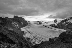 Glacie uno di Skaftafellsjokull del più impresive dell'Islanda Fotografie Stock