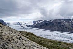 Glacie uno di Skaftafellsjokull del più impresive dell'Islanda Immagine Stock Libera da Diritti