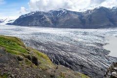Glacie uno di Skaftafellsjokull del più impresive dell'Islanda Immagine Stock