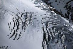 Glacier à la gamme de montagne de Mont Blanc à Chamonix, France Images stock