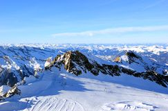 The Glacier � Freedom at 3,000 Metres, Skiing Resort. Stock Photography