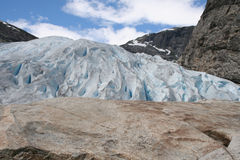 Glacier. Jostedalsbreen glacier in Norway, the biggest in continental Europe Stock Photography