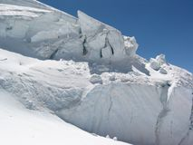 Glacier. Mountain glacier on alp - Monte Rosa royalty free stock image