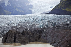Glacier. An ice lagoon at the tip of a Vatnajokull glacier tongue, near Skaftafell in south-east Iceland Stock Photos