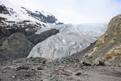 Glacier. Exit Glacier in Kenai Fjords National Park, Alaska Stock Images