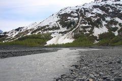 Glacier. Exit Glacier in Kenai Fjords National Park, Alaska Stock Image