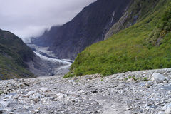 Glacier. The Franz Josef is a glacier located in Westland Tai Poutini National Park on the West Coast of New Zealand's South Island Royalty Free Stock Image