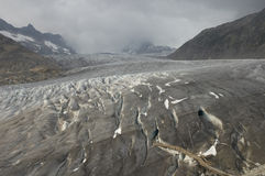 Glacier. On Furka Pass, Alps, Valais, Switzerland royalty free stock image