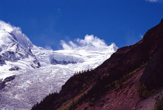 Glacier. It is a big glacier. the loaction is Tibet of China Stock Photos