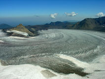Glacier. In mountains of Caucasus Stock Image