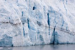Glacier. Hubbard Glacier in Alaska where it meets Disenchantment Bay. The Glacier is advancing each year royalty free stock images