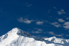 Glacier. Winter mountains in the Alps Royalty Free Stock Images