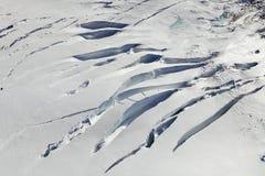 Glacier - aerial view Stock Image