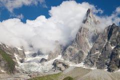 Glacier and Aiguille du Dru Stock Image