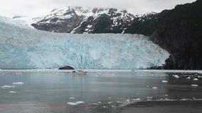 Glacier in alaska. Boat in front of glacier in alaska Royalty Free Stock Photography
