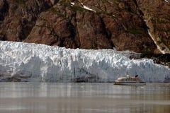 Glacier in Alaska. Glacier flowing into ocean in Alaska Stock Photo