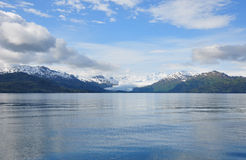 Glacier in Alaska receding from the sea Royalty Free Stock Images